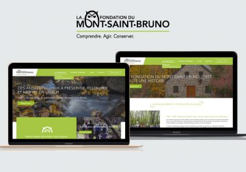 Miniature du site Fondation du Mont Saint Bruno dans 2 laptop
